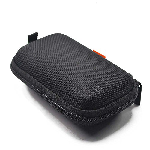 Rectangle Shaped Portable Protection Hard EVA Case,Mesh Inner Pocket,Zipper Enclosure Durable Exterior,Lightweight Universal Carrying Bag Wired/ Bluetooth Headset Charger Change Purse