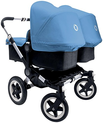 Bugaboo Donkey Complete Twin Stroller – Ice Blue – Aluminum