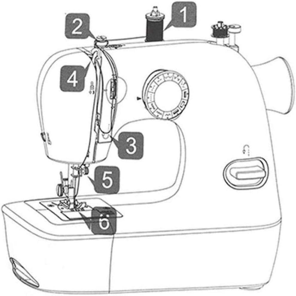 LYTLD Máquina de Coser portátil, máquina de Coser doméstica pequeña máquina de Coser sin Cuerda de Mano for Empezar a Trabajar con la Madera Regalos 29 * 245 Máquina ...
