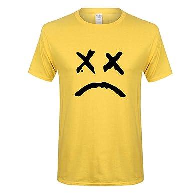 HWTOP Liebhaber T-Shirt Herren Damen Frühling Sommer Lässige Mode Druck Oansatz Kurzarm Baumwolle Top