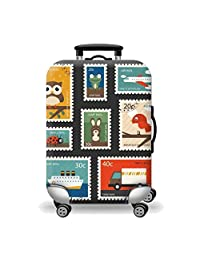 Artone Postage Stamp Washable Spandex Travel Luggage Protector Baggage Suitcase Cover Fit 26-28 Inch Luggage