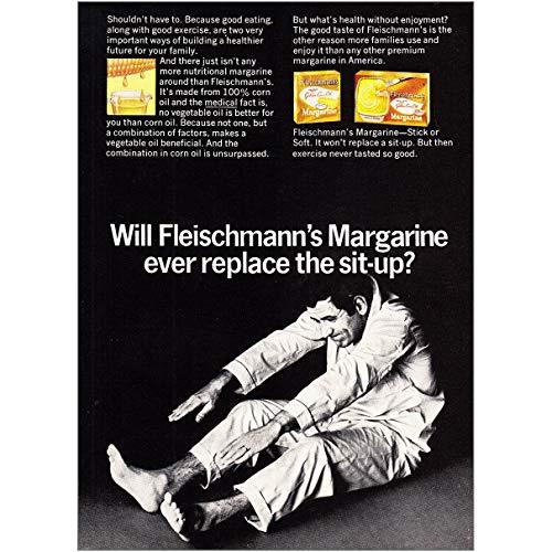 1968 Fleischmann's Margarine: Replace The Sit Up, Fleischmann's Print Ad - Margarine Fleischmanns