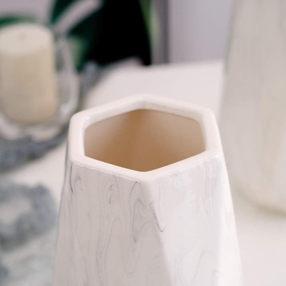 HCHLQLZ 30cm Wei/ß Marmor Vase Keramik Vasen Blumenvase Deko Dekoration