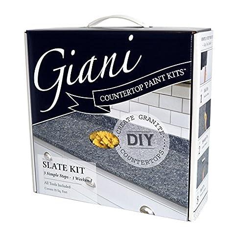 Giani Granite FG-GI SLATE Slate Countertop Paint Kit - Demonstration Kit