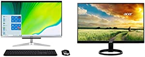 "Acer Aspire C24-963-UA91 AIO Desktop, 23.8"" Full HD Display, 10th Gen Intel Core i3-1005G1, Wireless Keyboard and Mouse, Windows 10 Home with R240HY bidx 23.8-Inch IPS HDMI DVI VGA"