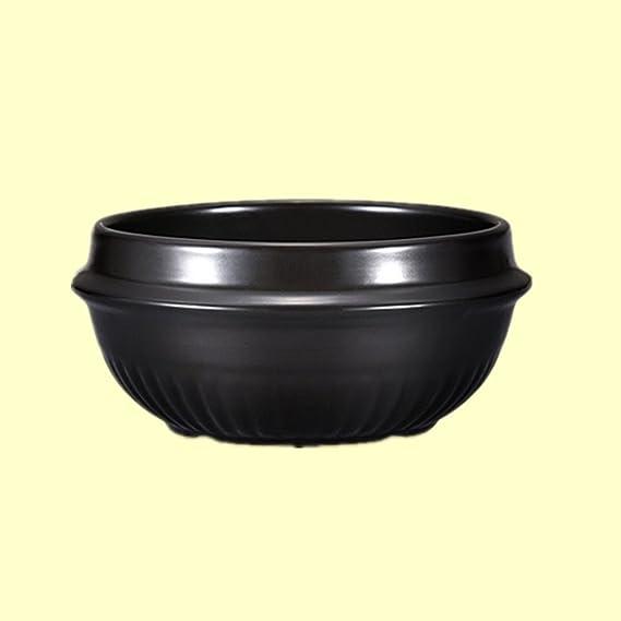Alta temperatura Fuego Bol de cerámica cocina sopa de Miso coreano Bibimbap especial piedra maceta olla: Amazon.es: Hogar