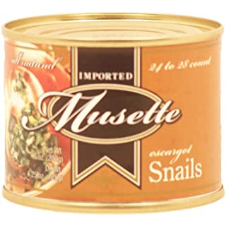 Musette escargot snails imported from Indonesia, 24 to 28 count 4.25 oz Can