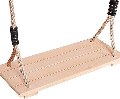 RONDA Columpio de Madera, Columpio para jardín para niños Adultos con 123-213cm Cuerda Ajustable, hasta 150kg: Amazon.es: Deportes y aire libre