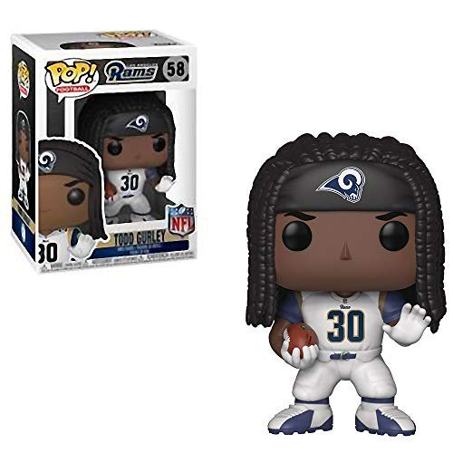 Funko Todd Gurley [Los Angeles Rams]: NFL x POP! Football Vinyl Figure + 1 Official NFL Trading Card Bundle [#058 / - Pop Football