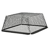 HY-C RVG3030G Galvanized Black Roof VentGuard with Wildlife Exclusion Screen, 30'' x 30'' x 12''