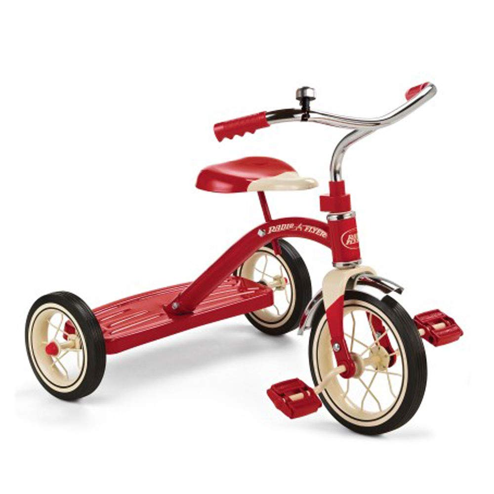 Radio Flyer 34BX 10'' Red Classic Tricycle (Renewed)
