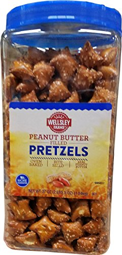 Wellsley Farms Peanut Butter Pretzels, 37 (Farms Peanut Butter)