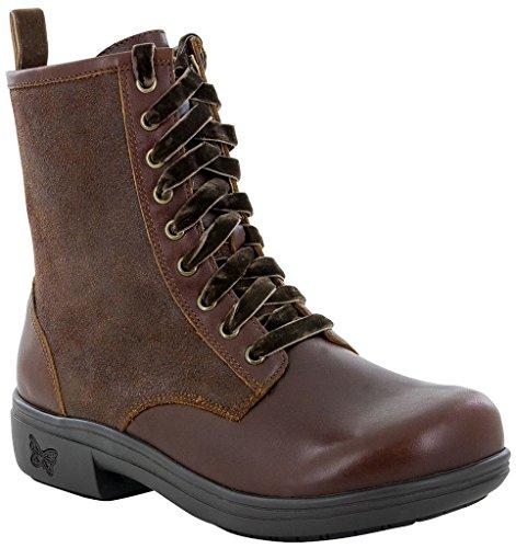 Alegria Womens Ari Combat Boot Oiled Suede Hazelnut Size 36 EU (6-6.5 M US Women)