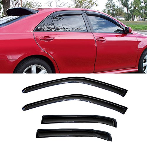 Gevog 4-Piece Side Window Deflector Original Window Visors for 06-13 Chevy Impala 14-16 Chevrolet Impala Limited Smoke Sun Rain Guard Ventvisor