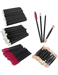Wecoe 200Pcs Disposable Lip Brushes Eyelash Brush Eyeliner Brush Makeup Applicators