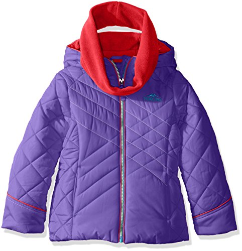 Pacific Trail Big Girls' Puffer Jacket with Neck Warmer, ...