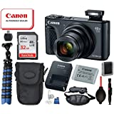 Canon Powershot SX740 HS Digital Camera (Black) with Bundle Package Deal –SanDisk 32gb SD Card + Camera Case + Gripster Tripod More