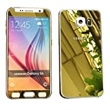 Dreams Mall(TM)Top Fashion Electroplating Mirror Effect Tempered Glass Screen Protector Film Decal Skin Sticker Front & Back for Samsung Galaxy S6-Gold