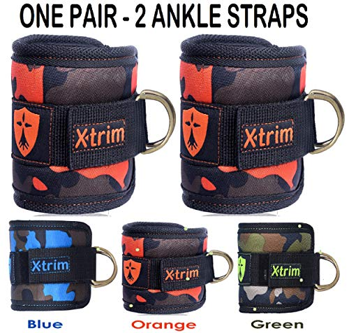 Xtrim Dura Lift Ankle Straps Premium Ankle Straps – for Cable Machines- Double-D-Ring – Adjustable Neoprene Premium Cuffs to Enhance Legs, Abs & Glutes for Men & Women- Pack of 2 Straps Price & Reviews