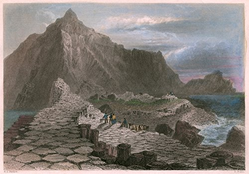 Ireland GiantS Causeway Nthe GiantS Causeway In County Antrim Northern Ireland Steel Engraving C1840 After William Henry Bartlett Poster Print by (18 x 24)