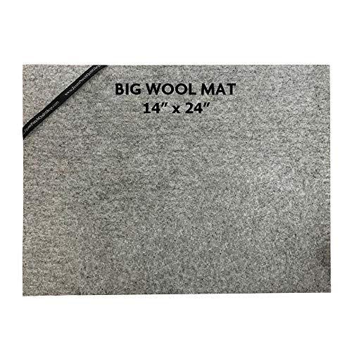 """ZaMa 2Pack (14x24"""")(9""""x9"""") Pressing Mat for Quilting100% Wool Quilter's Pressing Mat for Professional Ironing