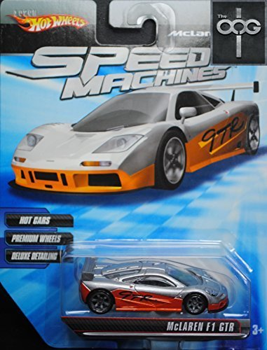 Hot Wheels Speed Machines McLaren F1 GTR - First Run - Orange and Silver 1:64 Scale