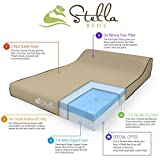 Top Rated Orthopedic Premium Gel Memory Foam Pet Bed for Large Dogs By Stella Beds. Includes Two Top Covers and Waterproof Liner.