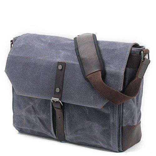 de hombro gran vacaciones viaje de Cremallera al impermeable diario simple bolsa bolsa mensajero aire retro lona capacidad libre Satchel con va cremallera cremallera de impermeable de del de Gris Uso de la Uw6XUq