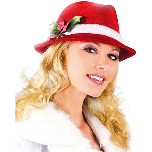 Fun World FUNDF7488 Christmas Fedora