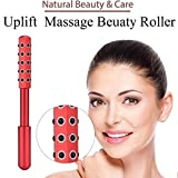 Facial Exercises Cause Wrinkles - Face Uplift Beauty Germanium Roller - with Gift Box & Carry Bag (Red)
