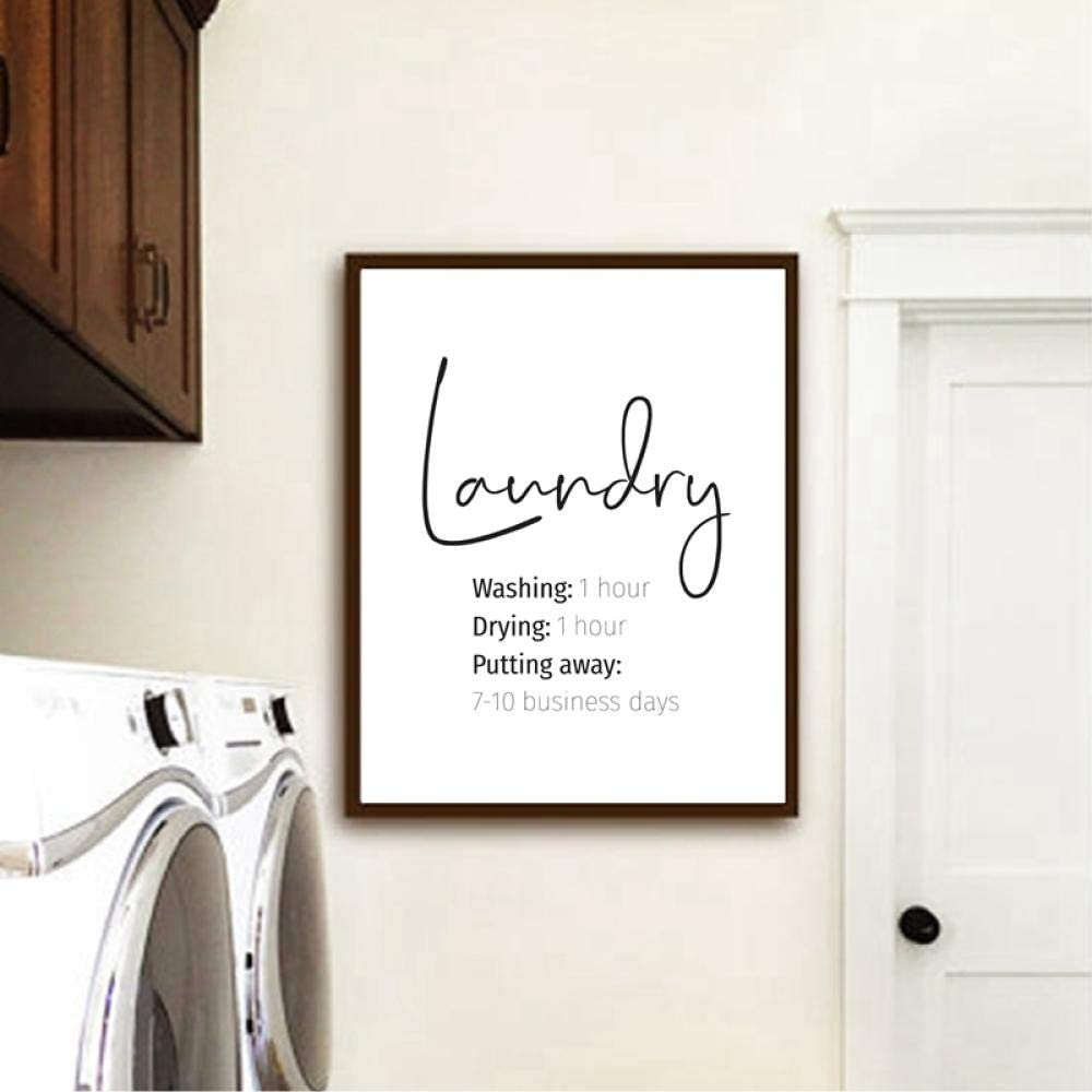 Amazon Com Woplmh Laundry Print Laundry Room Decor Funny Laundry Signs Typography Poster Wall Art Picture Canvas Painting 40x50cmx1 No Frame Posters Prints