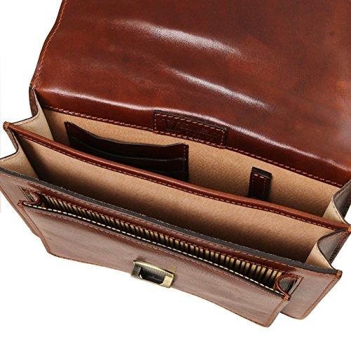 Tuscany Leather Eric - Bolso para hombre en piel Negro Bolsos en piel Negro