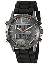 Caravelle New York Men's 45B132 Analog-Digital Display Analog Quartz Black Watch