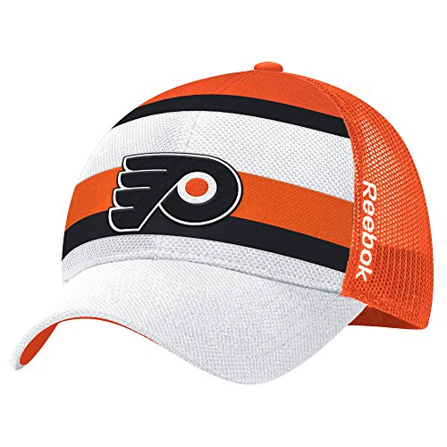 NHL Philadelphia Flyers Men's Face-Off Structured Flex Hat, One Size, White