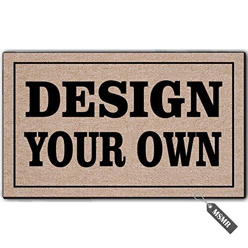 MsMr Custom Doormat Door Mat Design Your Own Indoor Outdoor Custom Doormat Decorative Home Office Welcome Mat 23.6