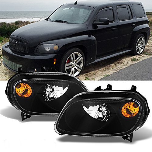 For Chevy HHR Amber Black Bezel OE Replacement Headlights Driver/Passenger Head Lamps Pair