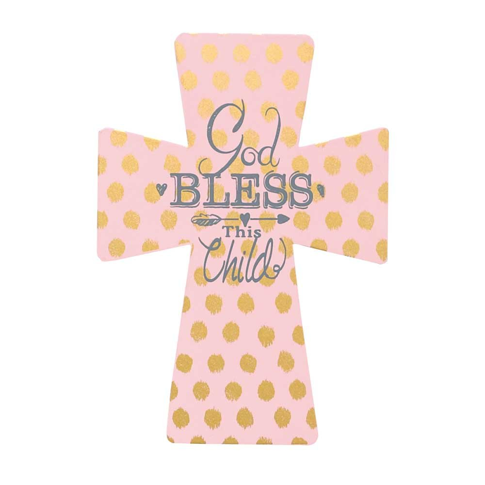 Dicksons God Bless This Child Wall Cross, Pink