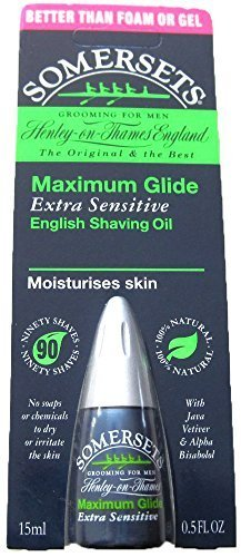 Somersets Extra Sensitive Shaving Oil, 15ml Bottles (2 Pack) by - Somerset Mall Shopping