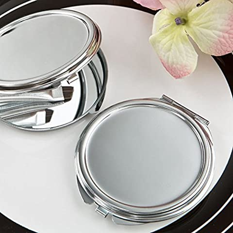 40 Perfectly Plain Collection Silver Metal Mirror - Silver Wedding Collection