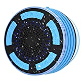 Shower Speaker, IPX7 Certified Waterproof Wireless 4.0 Shower Radio with HD Sound super Bass, FM Radio, and Colorful LED Effect, which is best for Shower, Kitchen, Pool, Bathroom and outdoors