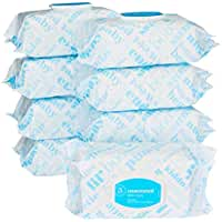 9-Packs Of 80 Amazon Elements Baby Wipes