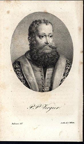 (Pier Paolo Vergerio Italian Religious Reformer c.1825 old antique portrait print)