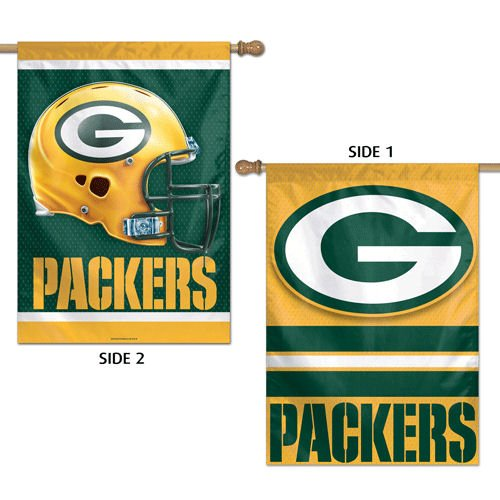 (Green Bay Packers 2-sided Banner Flag )