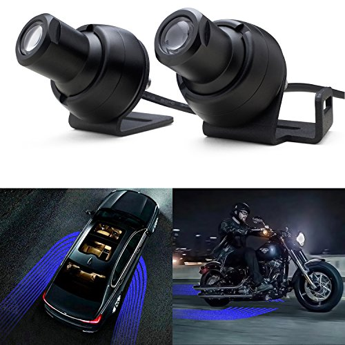 WEISIJI R3 LED Welcome Light Carpet Angel Wings Ghost Shadow Light LED Rock Light Courtesy Projector Underglow Light Car Door Exterior Light Ground Lamps for All Cars and Motorcycles(2Pcs ()