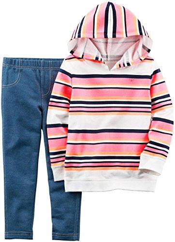 Carter's Baby Girls 2 Pc Playwear Sets 239g331, Stripe, 3 (Carters Knit Set)