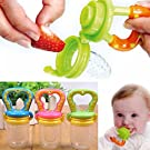 Gaobei Baby Weaning Tool Baby Feeding Fresh Safe Food Feeder Nibbler Safety (Green,Small)