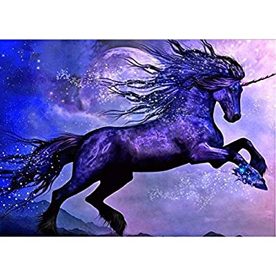 DIY 5D Diamond Painting by Number Kits, Crystal Rhinestone Diamond Embroidery Paintings Pictures Arts Craft for Home Wall Decor