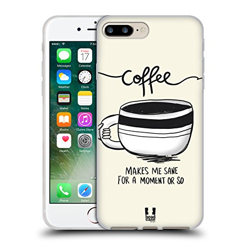 Head Case Designs Sane Coffee Fix Soft Gel Case for Apple iPhone 7 Plus / 8 Plus