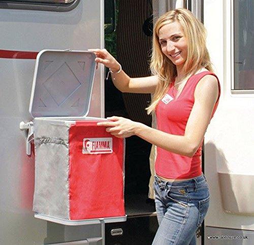 Fiamma, porta rifiuti pieghevole per camper e da viaggio, bidone compatto per la spazzatura (06584-01-)