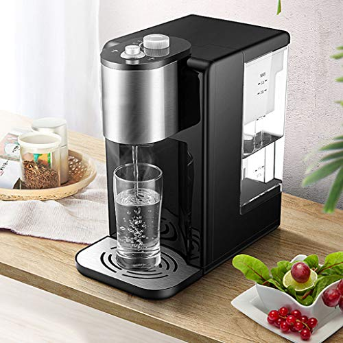 Hot Water Dispensers Mini Home Desktop Small hot Water Dispenser Office Desktop Mini hot Water Dispenser Small Insulated Kettle Bedroom Small Coffee Machine (Color : Black, Size : 16.3cm28cm31cm) by Combination Water Boilers Warmers (Image #2)